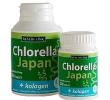 Health Link Chlorella Japan + kolagen 250 tbl.